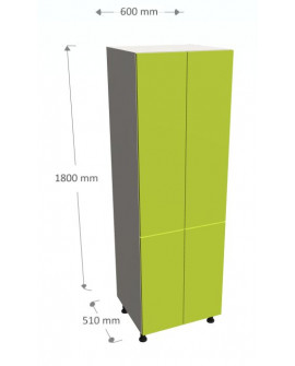 BOTTOM POST WITH SHELVES 4 FRONTS