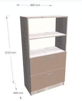 Regał z szufladami na segregatory